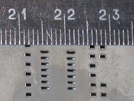 Печатная форма выполнена из никелевой фольги с применением гальваники