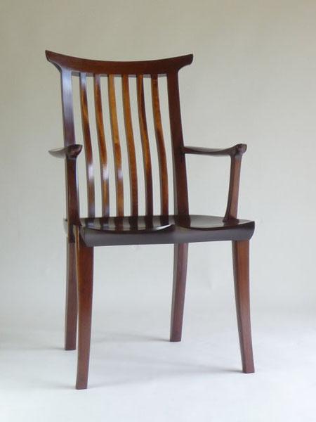 アームチェア ダイニングチェア 書斎の椅子 ウォールナット  木工 家具 京都 古谷禎朗