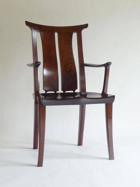 アームチェア ダイニングチェア 書斎の椅子 ウォールナット 漆 木工 家具 京都 古谷禎朗