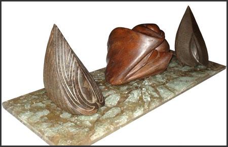 sculpture résine coquillage empreinte