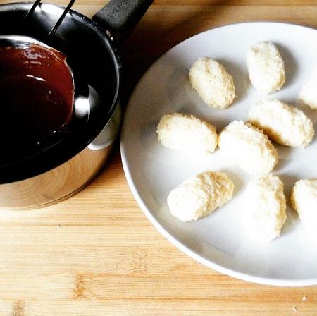 Selbst gemachte Bountys - Vegan und mit Fairtrade Schokolade