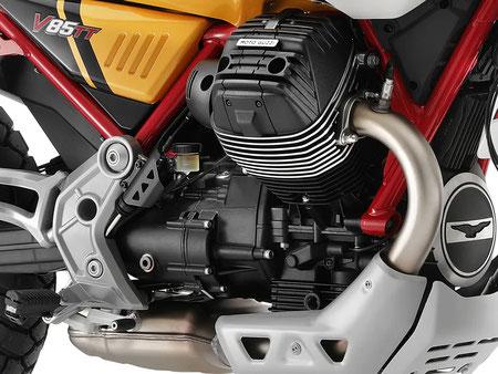 Motorblock rechte Ansicht V85 TT