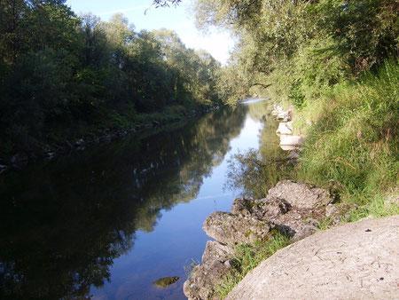 Saugstelle Flussaufwärts