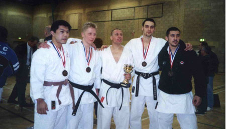 XB winning competitions with the Kumite Team