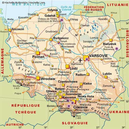 Pologne carte europa-planete