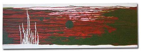 """""""Duesterwald"""" - Gesamtformat: 120 x 40 cm, Acryl auf Leinwand"""