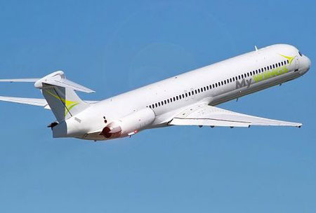 Diese MD-80 wird als MD-87 betitelt/Courtesy: My Wings