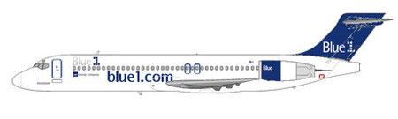 Boeing 717 im aktuellen Farbschema - Blue1 werden aber ein neues Konzept umsetzen/Courtesy and Copyright: md80design