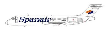 Im Spanair-Farbkleid unterwegs/Courtesy: MD-80.net