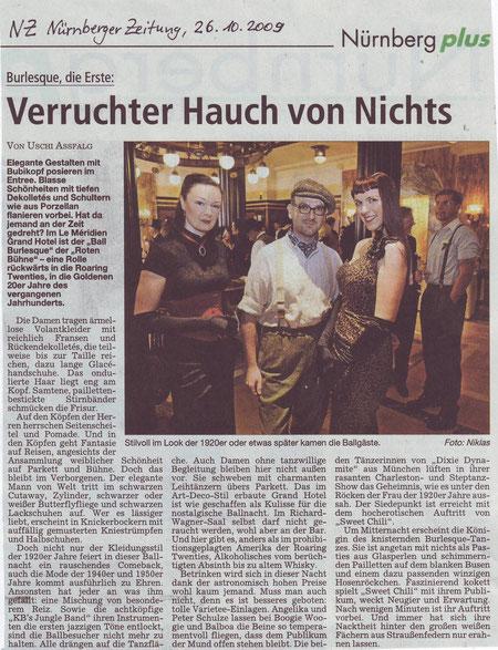 Nürnberger Zeitung, 26.10.09