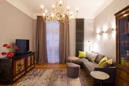 Ludwigshafen vollmöblierte Wohnung - Wohnzimmer