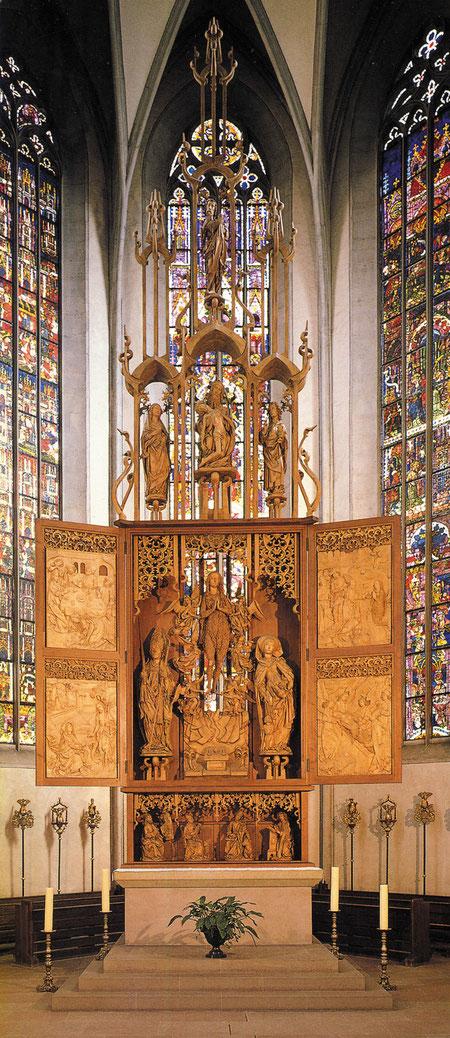 Münnerstadt: Stadtkirche: Riemenschneideraltar.