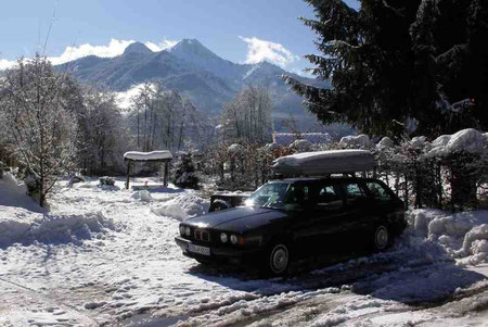 Mein 525 td im Januar 2010 in Österreich