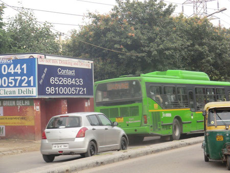 New Delhi Green Bus (Runs on LNG) & SUZUKI SWIFT