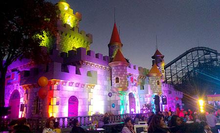 iluminacion, led, sunstar, castillo