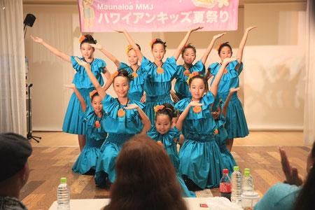 MMJハワイアンキッズ夏祭り2015 Hale'iwa Hula みんなでポーズ!