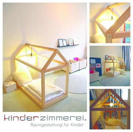 Kinderbett spielhaus  Das Häusle - Spielhaus und Kinderbett - kinderzimmerei.