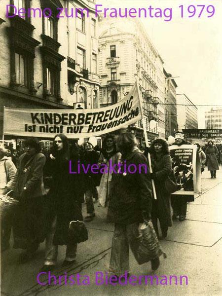 Demonstration zum Tag der Frau 1979, Foto von Heide Heide