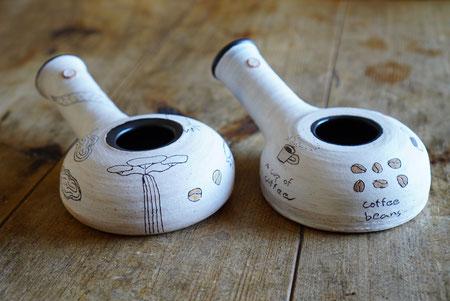 陶芸家 ブログ 焼き物 陶芸作品 茨城県笠間市 コーヒー ロースター 焙烙 自家焙煎 耐熱 土鍋 煎る お茶