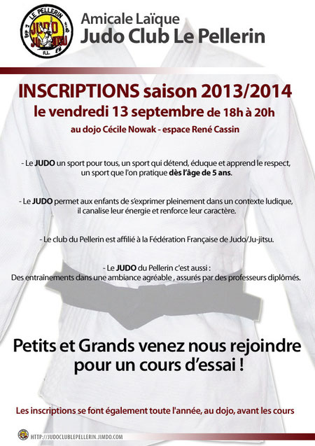 Judo Club Le Pellerin - inscriptions