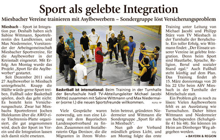 Bericht des Miesbacher Merkur am 7.3.2012 - Zum Vergrößern Klicken!