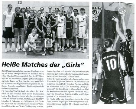 Bericht der BayernBasket, Ausgabe Juli/August 2012 - Zum Vergrößern Klicken