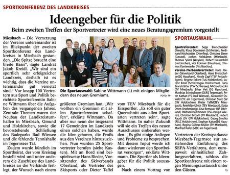 Bericht des Miesbacher Merkur am 17.4.2013