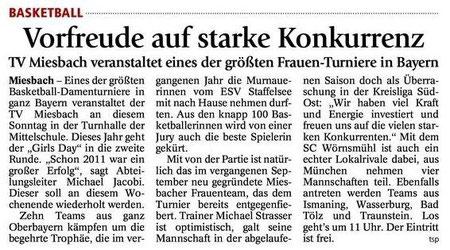 Vorbericht des Miesbacher Merkur am 7.7.2012 - Zum Vergrößern Klicken