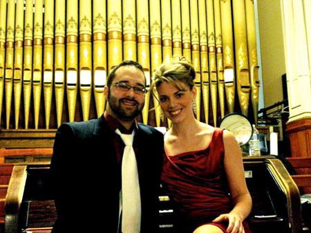 Avril 2011, avec Marjorie Maltais, mezzo-soprano