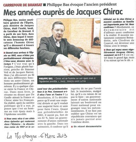 Journal La Montagne, 06.03.2013