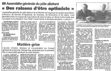 Presse de la Manche, 18.01.2012