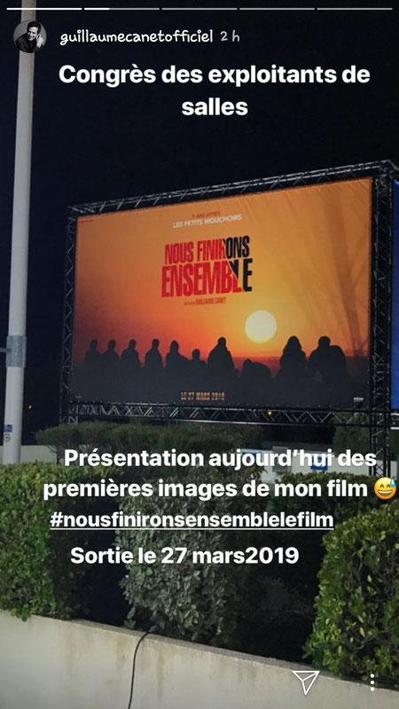 """Un extrait  du film """"Nous finirons ensemble"""", écrit, réalisé, tourné au Cap-Ferret par Guillaume Canet et présenté aux exploitants de salles réunis à Deauville. Capture d'écran  Instagram/guillaumecanetofficiel."""