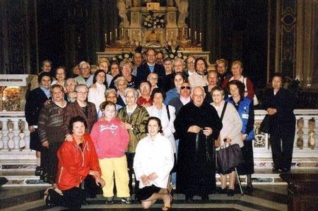 Una parte del Gruppo Missionario nel Santuario Madonna della Guardia di Genova