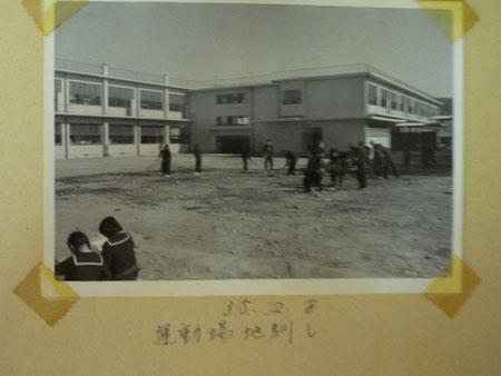 一中の写真です。火災の跡に建った新校舎です。なつかし~
