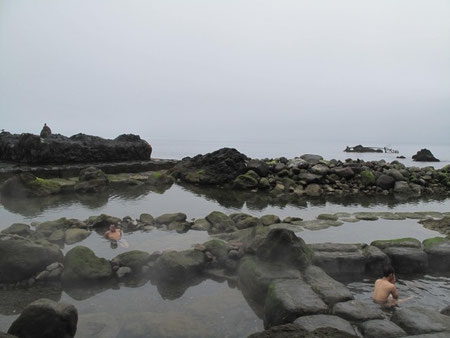 8月8日8:39  恵山水無海浜温泉にて。とにかくサイコーの温泉だ!