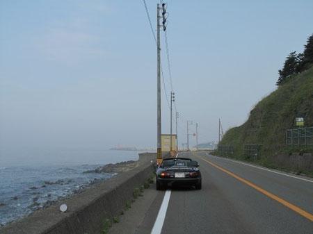 5:49 浦川まであと16キロの地点