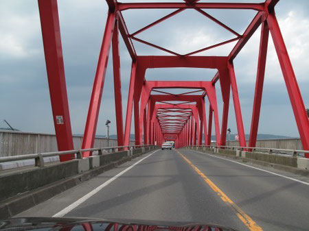 13:41 厚岸の真っ赤な鉄橋「厚岸大橋」