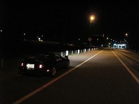 22:47 旭川北インター ここでオープンにする。一般道に比べ疲れにくいのと、事故の可能性が低いという理由から、極力高速を使う。