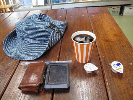 アイスコーヒーを飲んでマスターと雑談。