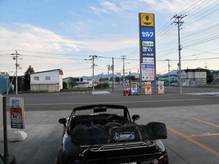 18:06 広尾町でガソリン補給(本日2回目の給油)