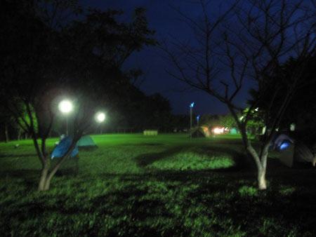 8月8日19:38  あわび山荘横、せたな大成野営場で宿泊