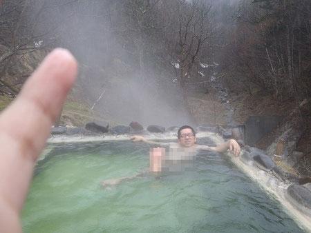 ホロカ温泉 湯元鹿の谷 露天風呂 2011年5月