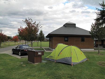 15:25 テントの設営完了