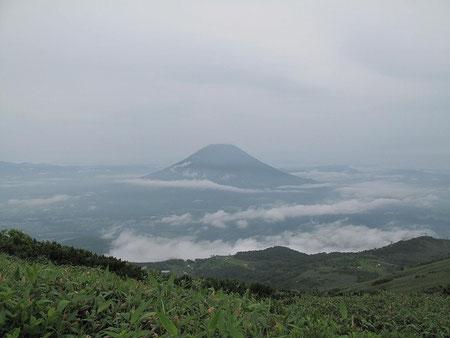 羊蹄山が見える。蝦夷富士と呼ばれる筈だ。感慨深いわ~・・