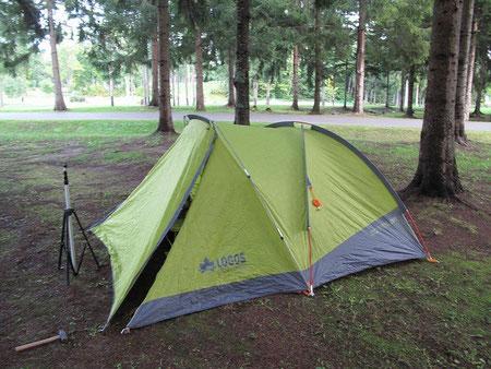 17:36 このロゴスのテントは大きな前室があるので大変便利