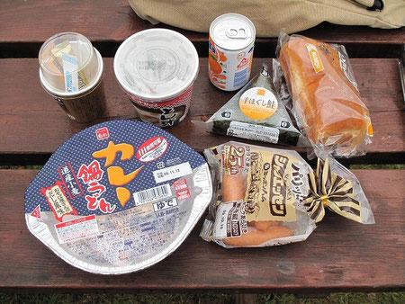 7:31 片付けなどを済まし、朝食。昨日の余りものの中から選んで・・