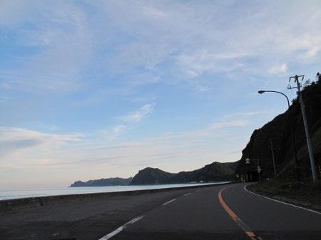 6月27日18:20  黄金道路。美しく厳しい自然を感じる