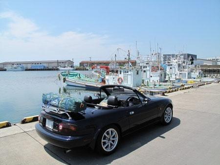 10:12 根室 花咲港に到着 花咲ガニはこの地名から由来されたという説が有力だそうだ