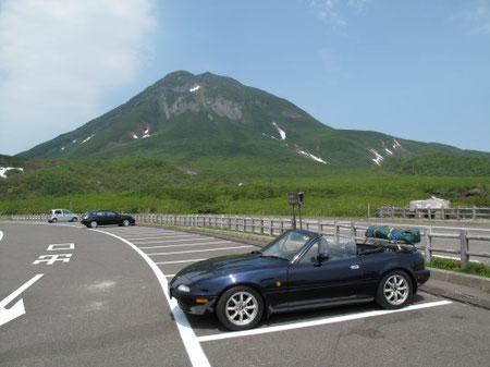 6月26日12:25 知床羅臼岳。天気も良く、最高の気持ち良さ。この後熊の湯温泉に入る