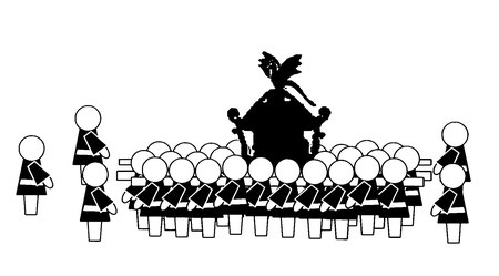 """Hibiya Oedo Matsuri, Matsuri Parade, """"Cygames"""" Mikoshi Parade"""